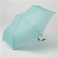 折りたたみ傘 フラット 55cm ブルー