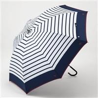 晴雨兼用傘 55cm ボーダー ネイビー