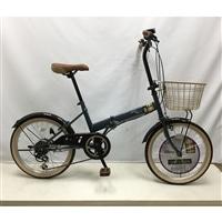 【自転車】折り畳み自転車 Confitureミッキー外装6段20インチダークブルー【別送品】
