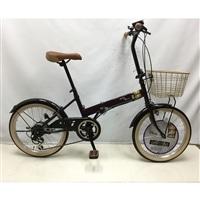 【自転車】【全国配送】折り畳み自転車Confitureミッキー外装6段20インチボルドー【別送品】