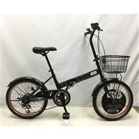 【自転車】折り畳み自転車 Confitureダースベイダー外装6段20インチ【別送品】