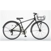 【自転車】アルミクロスCourageIII(クラージュ)外装7段 700C オートライト ブラック【別送品】