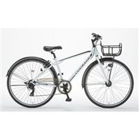 【自転車】アルミクロスCourageIII(クラージュ)外装7段 700C オートライト ホワイト【別送品】