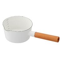 ホーローミルクパン 15cm ホワイト