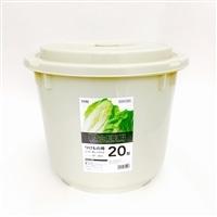 漬物樽20型 グレー