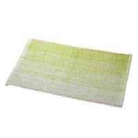 【数量限定】インド綿マット ウィンディア 50×120 グリーン