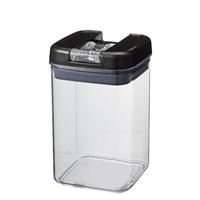 【数量限定】片手で開け閉めができる保存容器 黒 800