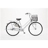 【自転車】【全国配送】KiLaCle パンクしにくい軽快車 内装3段 26インチ シルバー【別送品】