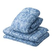 【数量限定】羊毛掛敷2点布団セット ブルー