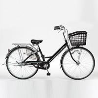 【自転車】【全国配送】KiLaLi26パンクしにくいアルミ軽快N3BK【別送品】