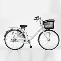 【自転車】【全国配送】KiLaLi26パンクしにくいアルミ軽快N3WH【別送品】