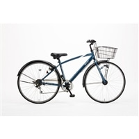【自転車】【全国配送】KiLaLi パンクしにくいクロスバイク 外装6段 27インチ ダークブルー【別送品】