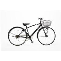 【自転車】【全国配送】KiLaLi パンクしにくいクロスバイク 外装6段 27インチ ブラック【別送品】