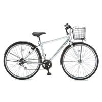 【自転車】【全国配送】KiLaLi パンクしないクロスバイク 外装6段 27インチ シルバー【別送品】