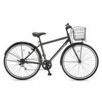 【自転車】【全国配送】KiLaLi パンクしないクロスバイク 外装6段 27インチ ブラック【別送品】