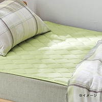 敷きパッド ニットグリーン シングル 100×200