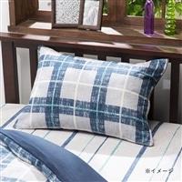 枕カバー 綿100%和みチェック 43×63