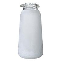 【trv・数量限定】ガラスフラワーベース ホワイト L