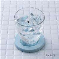 珪藻土 丸型コースター ブルー