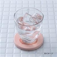 珪藻土丸型コースター ピンク