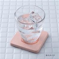 珪藻土角型コースター ピンク