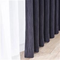 遮光性4枚組セットカーテン ブラウ 150×210 ネイビー