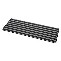 【2018春夏】キッチンマットボーダー 45×120 ブラック/グレー
