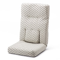 B11ヘッドリクライニング腰サポート座椅子 ホワイト