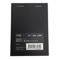 Salasse サラッセ 書きやすく、消しやすいノートパッド A7 方眼 ブラック