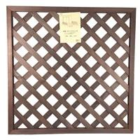 木製ラティスフェンス 90×90cm ダークブラウン