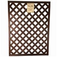 木製ラティスフェンス 90×120cm ダークブラウン