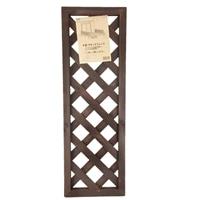 【数量限定】木製ラティスフェンス 30×90cm ダークブラウン