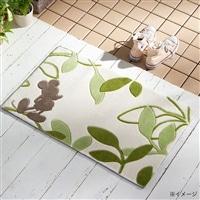 洗える玄関マット ミッキー&リーフ 50×80 グリーン