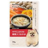 Pet's One プライムレシピ グルメパウチ ササミとさけの雑穀入りおかゆ 70g