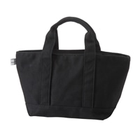 【trv】綿トートバッグS ブラック