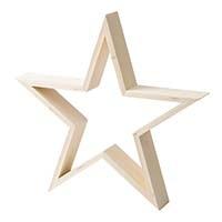 【trv】木製スター オープン L