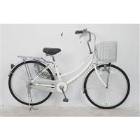 【自転車】軽快車 24型 ST2 ホワイト