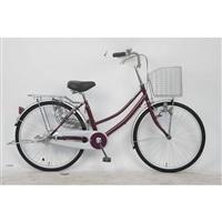 【自転車】軽快車 24型 ST2 ワインレッド