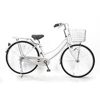 【自転車】軽快車 26型 ST3 LEDオートライト シルバー
