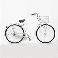 【自転車】軽快車 26型 ST3 LEDオートライト ホワイト