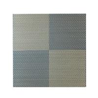 【数量限定】ずれにくい厚手縁無システム畳 82×82 ブルー