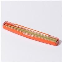 箸箱セット18cm オレンジ