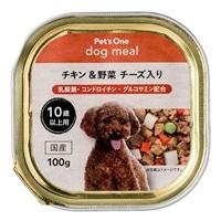 Pet'sOne ドッグミール トレイタイプ チキン&野菜 チーズ入り 10歳以上用 100g