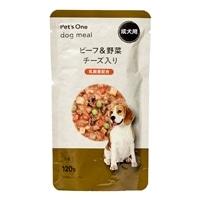 Pet'sOne ドッグミール パウチ タイプ ビーフ&野菜 チーズ入り 成犬用 120g