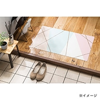 デザインフロアーマット エデローザ 50×80 ピンク