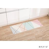 【数量限定】デザインフロアーマット エデローザ 45×120 ピンク