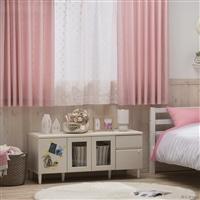 4枚組セットカーテン アイン 100×135 ピンク