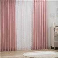 4枚組セットカーテン アイン 100×178 ピンク