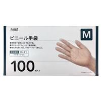 ビニール手袋 Mサイズ 100枚入り