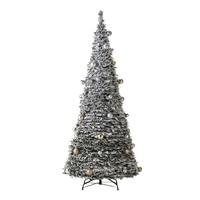 ポップアップクリスマスセットツリー210cm ホワイトスノー